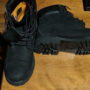 Black Timberland Ankle Boots